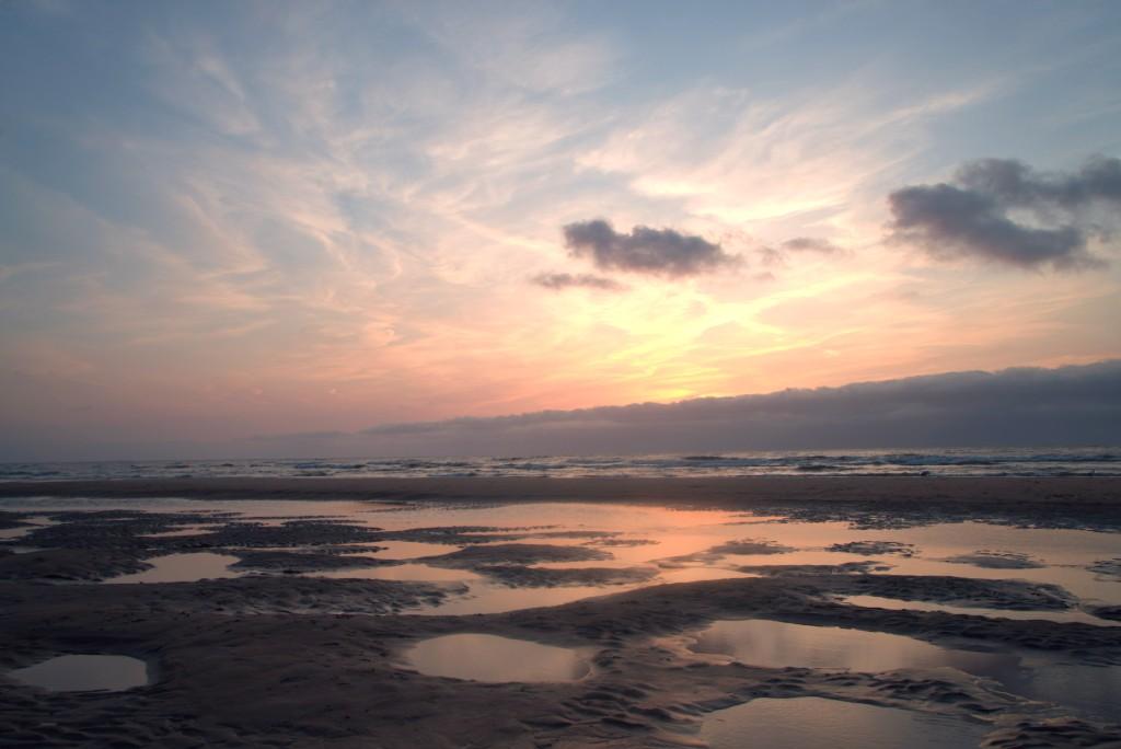 strand, zonsondergang, langevelderseslag, noordwijk, zuid-holland