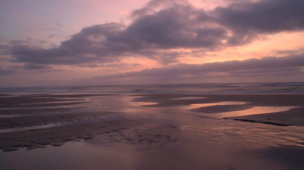 strand, duinen, zonsondergang, langevelderslag, noordwijk