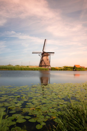 Unesco werelderfgoed de molens op Kinderdijk